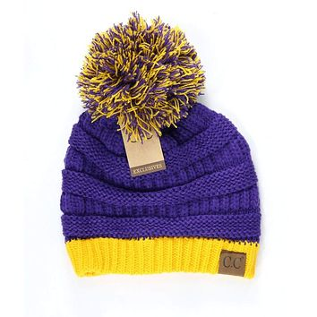LSU Purple and Gold CC Game Day Beanie