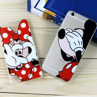 For Iphone 6 6s 7 Plus Cases Cute Cartoon Mickey Minnie Daisy Donald Phone Case Cover for Iphone 6 6s 4.7 Inch Soft TPU 2016 New
