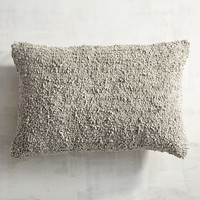 Popcorn Gray Lumbar Pillow