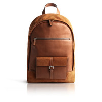 """Backpack in leather and suede. Backpack thought to protect and transport your iPad, MacBook Pro 13 """"or 15""""."""