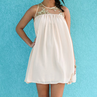 Show Stealer Light Pink Dress With Mesh Detailed Top