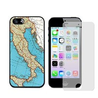 Iphone 5s Case, Italy Map Case for Iphone 5/5s - Free Screen Protector