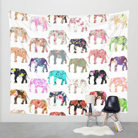 Floral Herd Wall Tapestry by Girly Trend