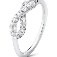 GEORG JENSEN - Infinity sterling silver and diamond ring | Selfridges.com