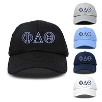 DALIX Phi Delta Theta Greek Letters Ball Cap Embroidered Hat