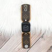 Upcycled LV Monogram Apple Watch Bow Band
