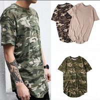 Camo/Solid Crew Neck T - Shirts
