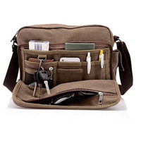 Unisex Multifunction Canvas Travel Bag High Quality Casual Messenger Bags Gift