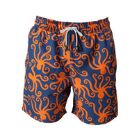 Tom & Teddy Trunks Octopus Blue & Orange