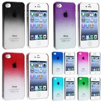 eForCity 7 Color Snap on Waterdrop Design Case Compatible with Apple® iPhone® 4 4S (Clear Smoke, Clear Purple, Clear Red, Clear Dark Blue, Clear Hot Pink, Clear Sky Blue, Clear Green)