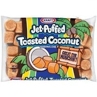 Jet-puffed Toasted Coconut Marshmallows, 8 Oz (Pack of 3)
