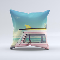 The Beach Trip ink-Fuzed Decorative Throw Pillow