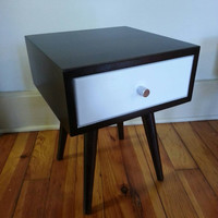 Mid Century Inspired Night Stand / Side Table with Drawer.