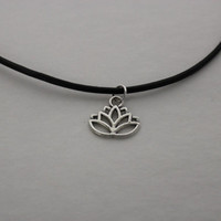 Lotus Charm Choker Necklace