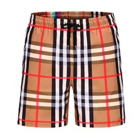 BURBERRY Summer Classic Plaid Casual Beach Shorts
