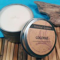 Coconut Candle Whisk Away Winter Blues with a Tropical Beach Scented Soy Candle