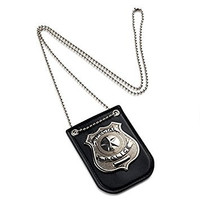 Dress Up America Pretend Play Police Badge With Chain and Belt Clip
