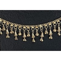 Women's Girl's Beautiful White Metal Gold Tone Anklet Ankle Bracelet with Bells