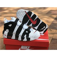 Nike Air more uptempo white black Basketball Shoes 40-46