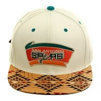 Mitchell and Ness BCS NL16z San Antonio Spurs Aztec Strapback Hat - White, Tan