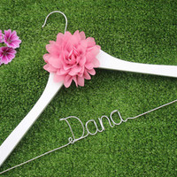 Personalized flower bridal hanger, personalized custom Bridal, Brides Hanger, Wedding Hanger, Personalized Bridal Gift.-in Event & Party Supplies from Home & Garden on Aliexpress.com | Alibaba Group