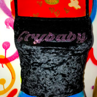 SWEET LORD O'MIGHTY! CRYBABY VELVET TANK IN BLACK