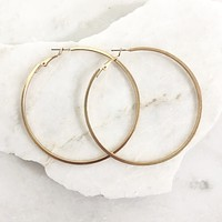 Jagged Edge Gold Hoop Earrings