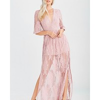 As You Wish Embroidered Maxi Dress in More Colors
