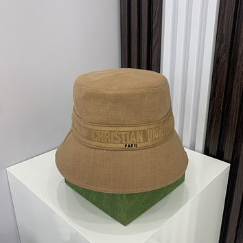 Dior family canvas letter fisherman's hat