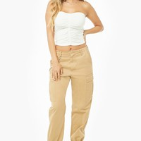 Ruched Cropped Tube Top