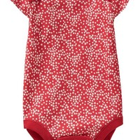 Old Navy Patterned Flutter Sleeve Bodysuits For Baby