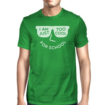 Too Cool For School Mens Green Shirt