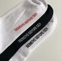 """REMOVE BEFORE SEX"" Socks"
