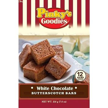 Pinky's Goodies WHITE CHOCOLATE BUTTERSCOTCH BARS