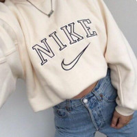 Nike T-shirt sleeve head long sleeved loose sweater