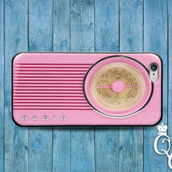 iPhone 4 4s 5 5s 5c 6 6s plus + iPod Touch 4th 5th 6th Generation Cute Pink Hip Hipster Music Stereo Radio Cover Retro Cool Funny Phone Case