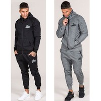 Men's Weight lifting Base Layer track suit is suitable for men's casual men fall suit men's Bodybuilding leisure suit Breathable