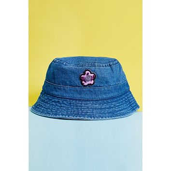 ECH Flower Patch Denim Bucket Hat