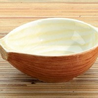 Yellow Onion Ceramic Dipping Bowl, Set Of 2