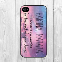 HAKUNA MATATA Aztec Trible Galaxy Sky Pattern Hard Snap on Case Protective Skin Cover For Apple iphone 4 4s, iphone 5 5S, iphone 5C