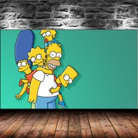 Classic Animation Simpsons Canvas Print Print Living Room Home Decor Modern Wall Art Oil Painting #005