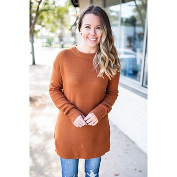 Now Or Never Sweater - Rust