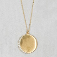 Customizable Crescent Moon Necklace - Gold