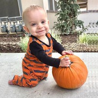 Telotuny baby boys clothes Halloween Pumpkin Romper Jumpsuit baby girl clothes girls clothes autumn kids clothes JL 24