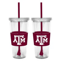 Texas A&M Aggies 2-pc. Double-Walled Straw Tumbler Set (Tam Team)