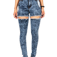 Side Swipe High Waist Skinnys | Jeans at Pink Ice
