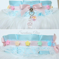 Cry Baby Collar V.2 , Rainbow Collar, Fairykei, Larme Fashion, Lolita Collar [READY TO SHIP]