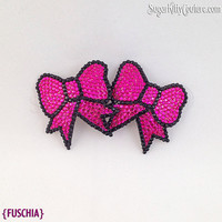 Rhinestone Bow Shaped Nipple Pasties - SugarKitty Couture