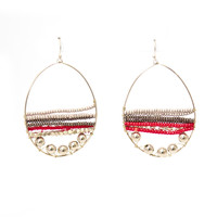 Red Rock Hoop Earrings