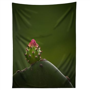 Bird Wanna Whistle Cactus Tapestry
